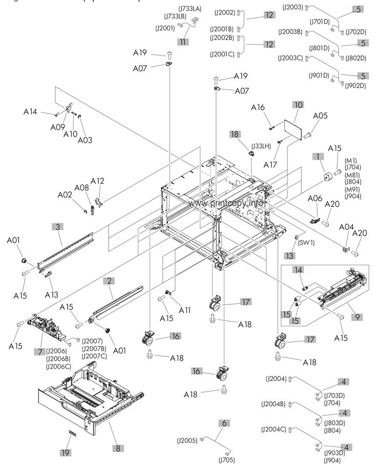 Parts Catalog Hp Laserjet M725f Enterprise 700 Mfp Page 14