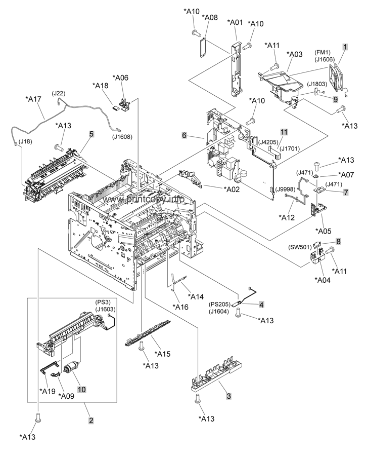parts catalog  u0026gt  hp  u0026gt  laserjet p3015  u0026gt  page 6