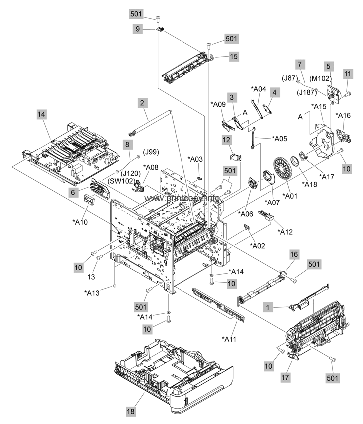 Hp Laserjet P4014n Parts Diagram