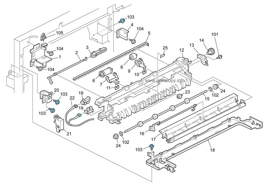 parts catalog  u0026gt  ricoh  u0026gt  aficio mp3352  u0026gt  page 19