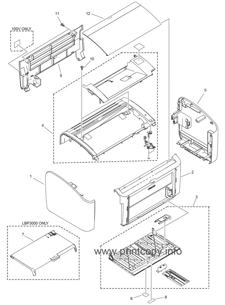 Canon Parts Diagram
