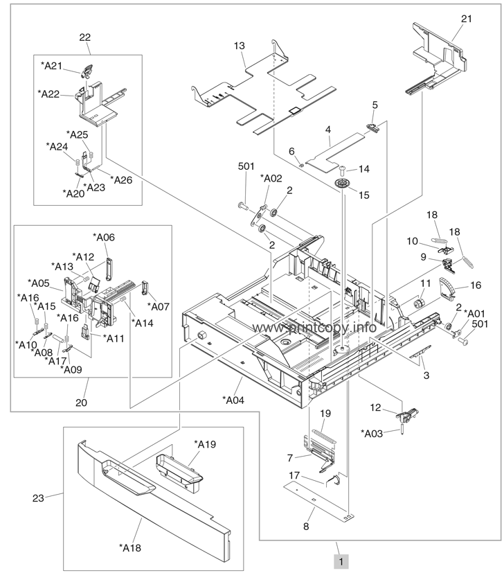 Hp Printer Parts Diagram