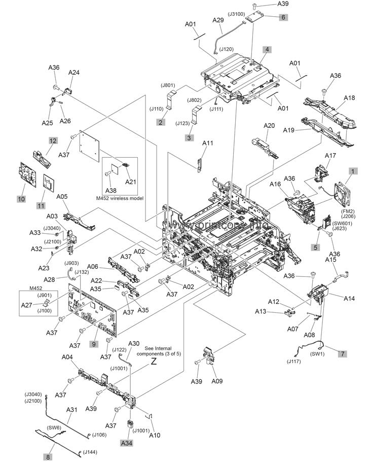 parts catalog \u003e hp \u003e color laserjet pro mfp m377 \u003e page 4 hp parts diagram hp parts diagram #2