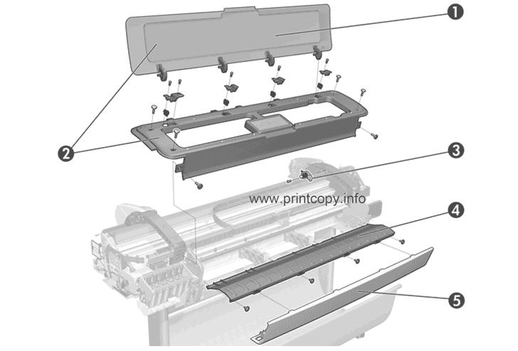 T795 Drucker T790 Series T790 PS 24 Inch T790 44 Inch T790 PS 44 Inch matt-schwarz vhbw Druckkopf passend f/ür HP DesignJet T790 24 Inch