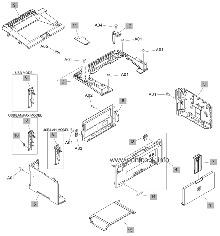 Parts Catalog > HP > LaserJet Pro MFP M132snw > page 4