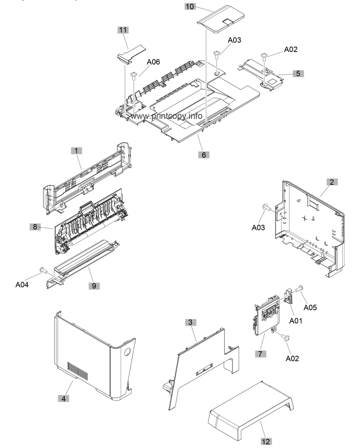 parts catalog  u0026gt  hp  u0026gt  laserjet m177 color pro mfp  u0026gt  page 1