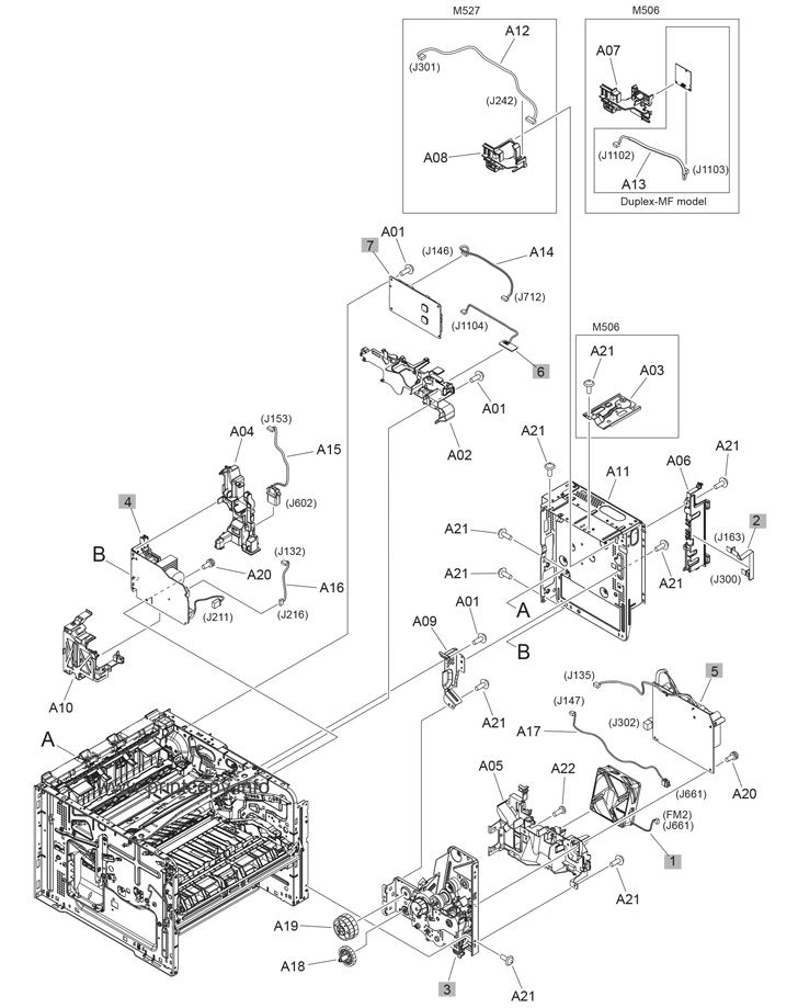 Parts Catalog  U0026gt  Hp  U0026gt  Laserjet M527 Enterprise  U0026gt  Page 7
