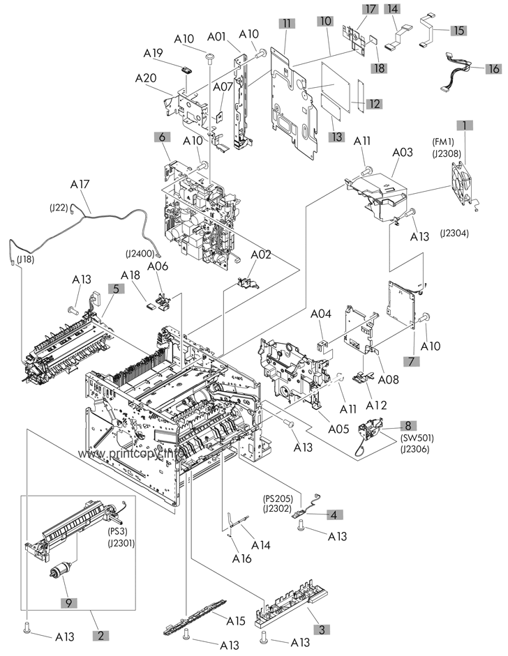 Parts Catalog  U0026gt  Hp  U0026gt  Laserjet M521dn Pro Mfp  U0026gt  Page 9
