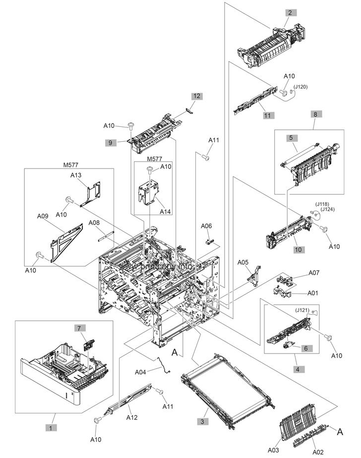 Parts Catalog > HP > LaserJet Enterprise MFP M577 > page 5