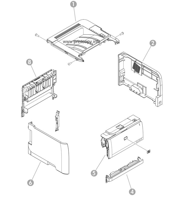parts catalog u003e hp u003e laserjet p2055dn u003e page 1 rh printcopy info