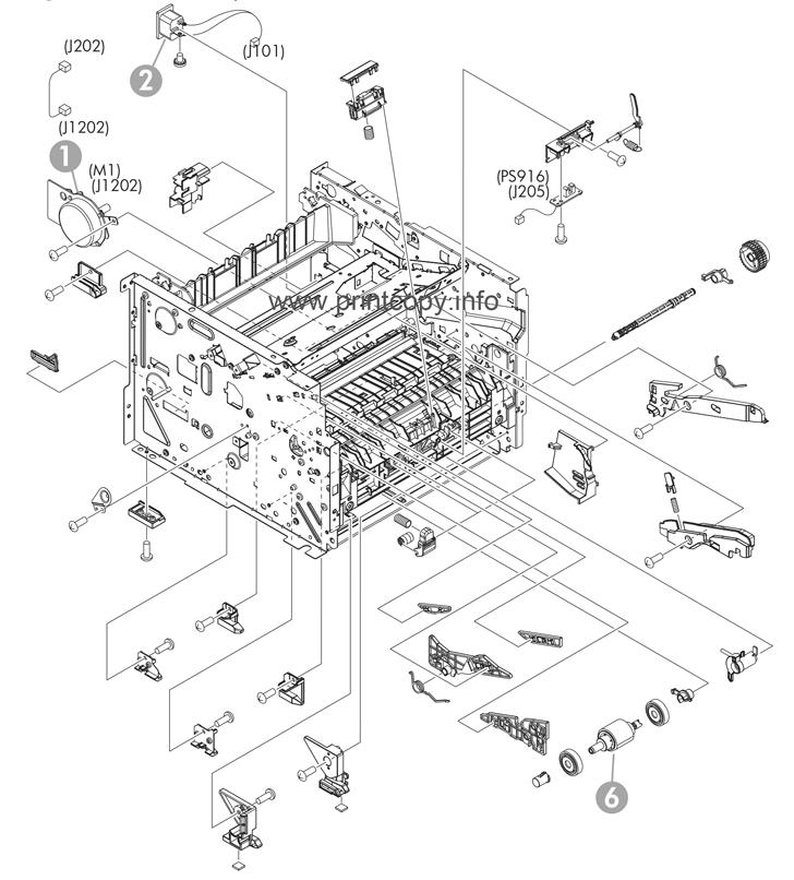 parts catalog u003e hp u003e laserjet p2055dn u003e page 4 rh printcopy info