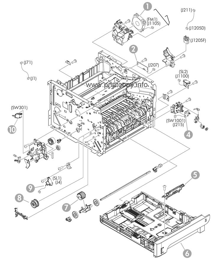 parts catalog u003e hp u003e laserjet p2055dn u003e page 6 rh printcopy info