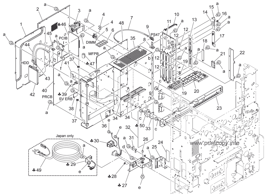 Parts Catalog Konica Minolta Bizhub C220 Page 43