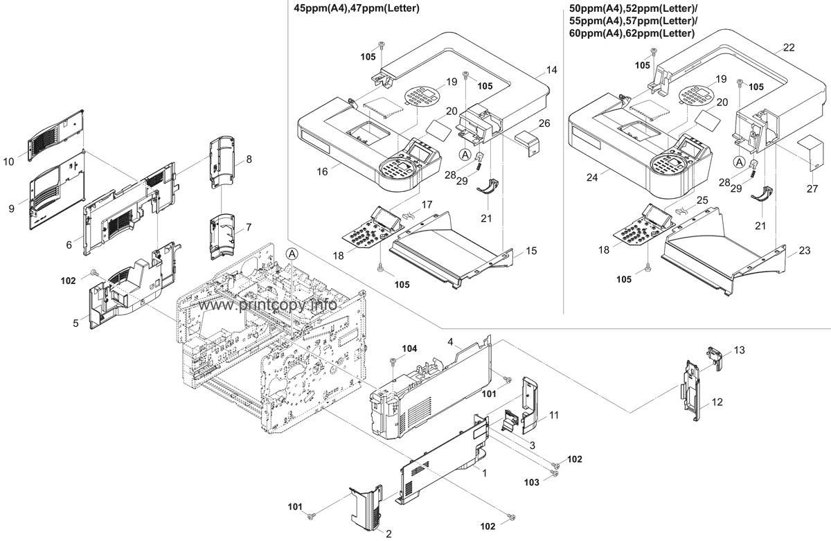 Parts Catalog > Kyocera > ECOSYS P3060dn > page 1