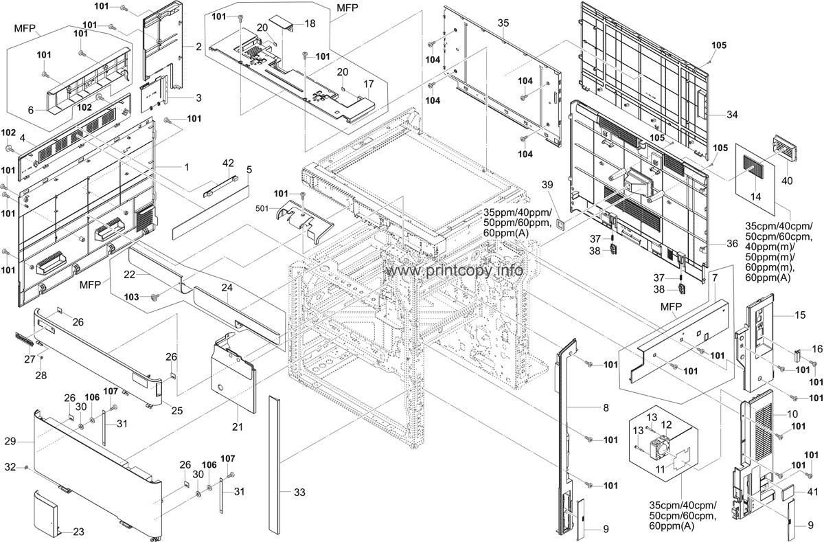 Parts Catalog > Kyocera > TASKalfa 5052ci > page 1