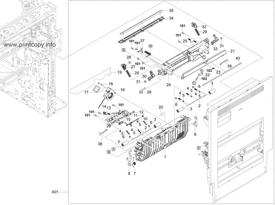 Parts Catalog > Kyocera > TASKalfa 5052ci > page 19