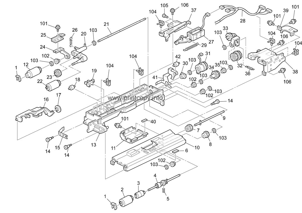 Parts Catalog > Ricoh > Aficio 2045 > page 11