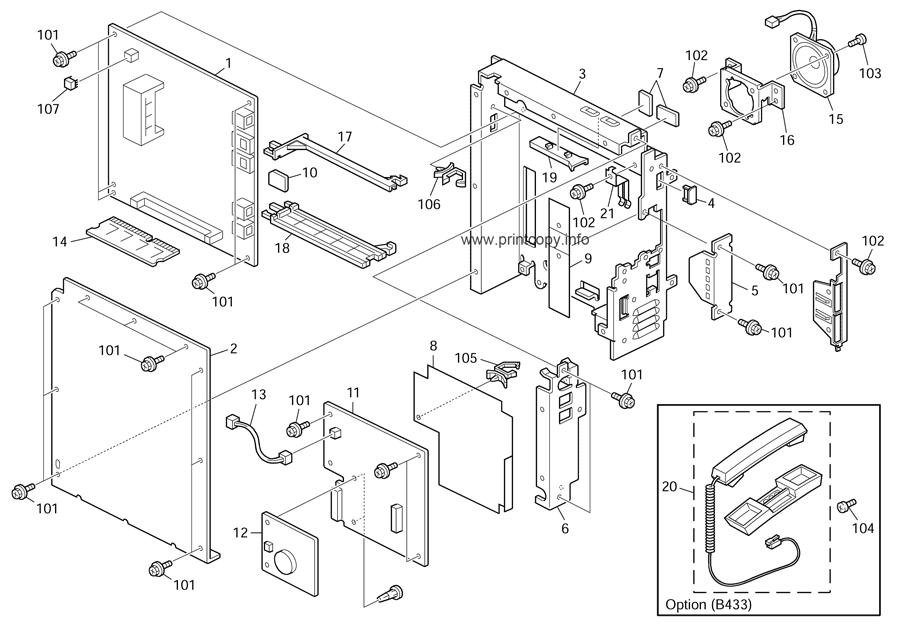 Parts Catalog Ricoh Aficio Mp171 Page 21