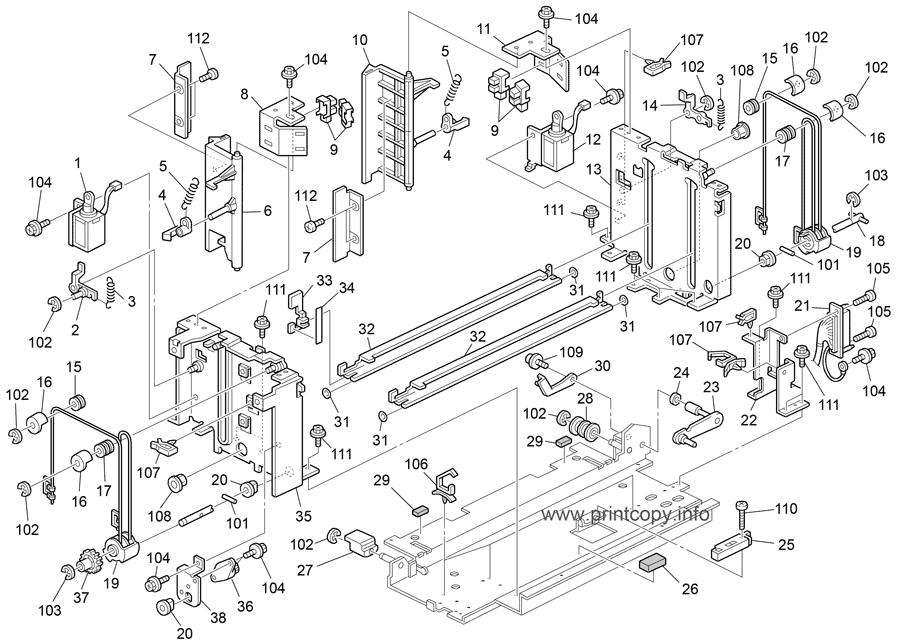 Parts Catalog  U0026gt  Ricoh  U0026gt  Aficio Mp6002  U0026gt  Page 25