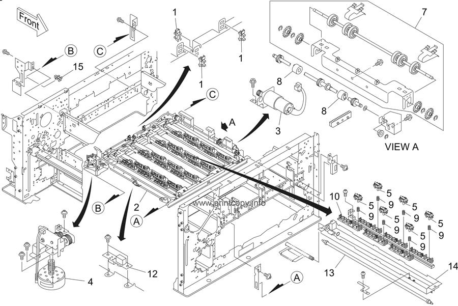 parts catalog u003e riso u003e hc5500 series u003e page 16 rh printcopy info Riso HC5500 Sensor Riso HC5500 Review